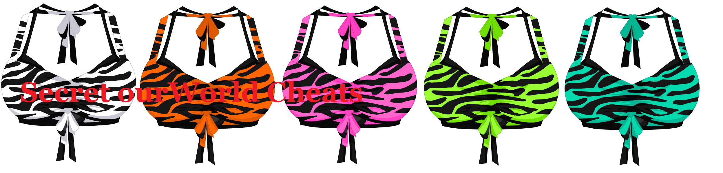 Zebra Print Swim Top