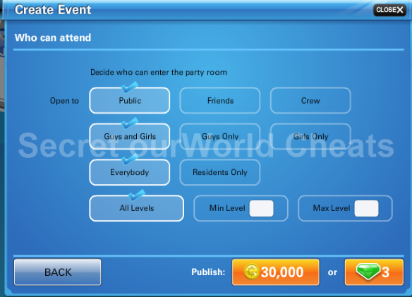 Coins | Secret ourWorld Cheats
