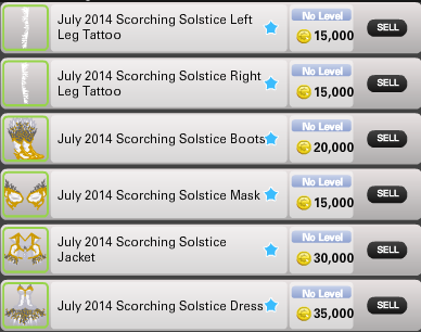Scorching prices