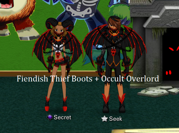 Fiendish Thief Boots + Occult Overlord